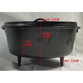 Ceaun din fonta cu capac - cuptor olandez Lodge 36 cm 9,5 litri
