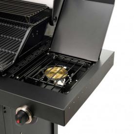 Gratar pe gaz din inox Char-Broil Professional 4500 Black Edition TRU-Infrared - 140909 arzator suplimentar
