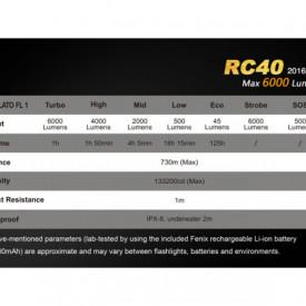 Lanterna Fenix RC40 - 6000 Lumeni - 730 Metri - Editie 2016 6