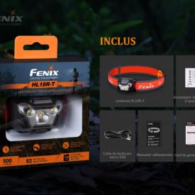 Lanterna frontala Fenix HL18R-T 500 lumeni 82 metri - ADV-444-001 5
