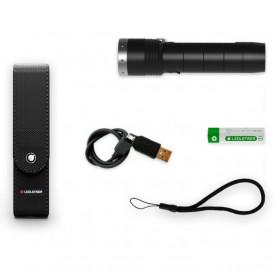Lanterna Led Lenser MT10 1000LM+Acum.+USB+Husa