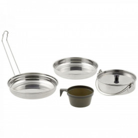 Set vase camping 4 piese din otel inoxidabil MFH - OUTMA.33315