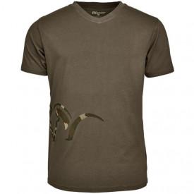 Tricou Blaser Logo V Neck Olive