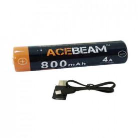 Acumulator 800mAh cu port Micro-USB Acebeam ARC14500N-800