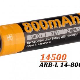 Acumulator Fenix 14500 - 800mAh - ARB-L 14-800