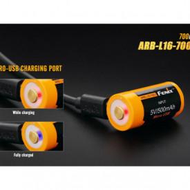 Acumulator Fenix 16340 Cu micro USB - 700mAh - RB-L 16-700U 3