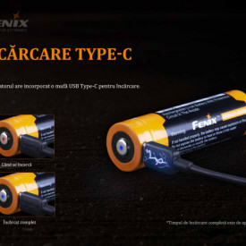 Acumulator 21700 - 5000mAh - Acumulator USB Type-C - ARB-L 21-5000U 4