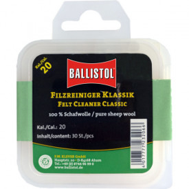 Ballistol Cutie pelete lana pentru curatat teava CAL 20 30BUC