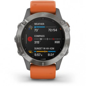 Ceas Garmin Fenix 6 Sapphire Titan/Orange 47mm - HG.010.02158.14 compass