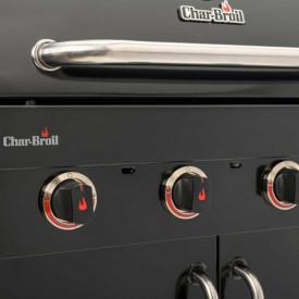 Gratar pe gaz din inox Char-Broil Professional 4500 Black Edition TRU-Infrared - 140909 butoane