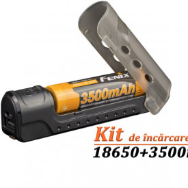 Kit Incarcator Fenix ARE-X11 + Acumulator 18650 3500mAh