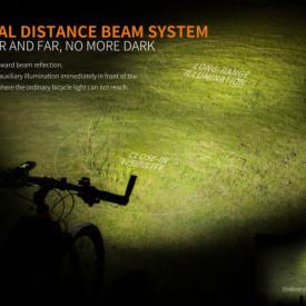 Lanterna bicicleta de ghidon Fenix BC30R 1800 Lumeni 187 Metri 3