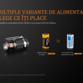 Lanterna Fenix E16 450 lumeni baterie