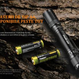 Fenix E20 V2.0 350 Lumeni 126 Metri baterii