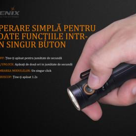 Lanterna Fenix E30R - Reincarcabila - 1600 Lumeni 203 Metri proportii