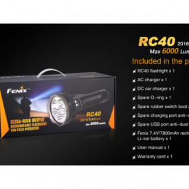Lanterna Fenix RC40 - 6000 Lumeni - 730 Metri - Editie 2016 7