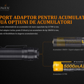 Lanterna Fenix TK22 V2.0 1600 Lumeni 405 Metri acumulatori