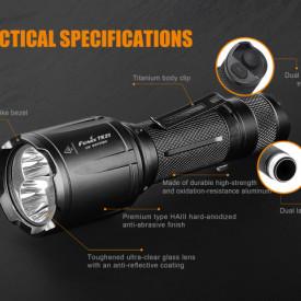 Lanterna Fenix TK25 - Versiune UV - 1000 lumeni 225 metri specificatii tactice