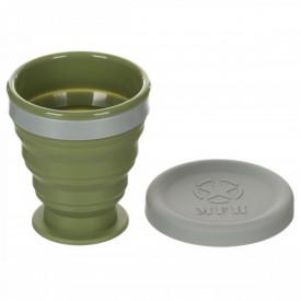 Pahar pliabil cu capac, silicon, BPA free, 200 ml MFH - OUTMA.33399