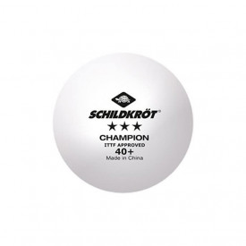 Set 3 mingii tenis de masa Donic-Schildkröt - Champion ITTF, poly 40+ - 608540