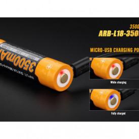 Acumulator 18650 - 3500mAh cu Micro USB - ARB-L 18-3500U 3