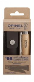Briceag Opinel Nr.08 Inox + Teaca, 8.5cm - 001089