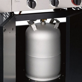 Bucatarie pe gaz, 4 arzatoare inox, arzator infrarosu, grile fonta, Enders Kansas Pro 4 SIK Profi Turbo - 8708 butelie