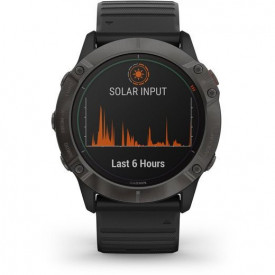 Ceas Garmin Fenix 6X Pro Solar Carbon/Black - HG.010.02157.21 incarcare solara