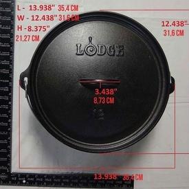 Ceaun din fonta cu capac - cuptor olandez Lodge 30,2 cm 5,7 litri