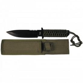 Cutit full tang lama 16 cm black blade cu teaca Fox Outdoor - OUTMA.44494