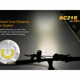 Lanterna bicicleta de ghidon Fenix BC21R Reincarcabila 880 Lumeni 125 Metri 2