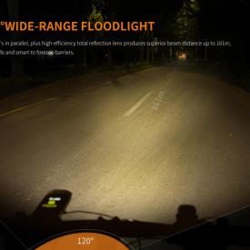 Lanterna bicicleta de ghidon Fenix BC30R 1800 Lumeni 187 Metri 4
