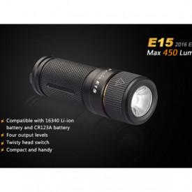 Lanterna Fenix E15 - Editie 2016 - 450 lumeni