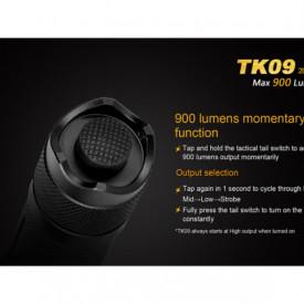 Lanterna Fenix TK09 - Editie 2016 - 900 lumeni 310 metri buton tactic