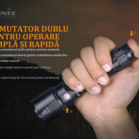Lanterna Fenix TK22 V2.0 1600 Lumeni 405 Metri buton