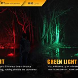 Lanterna Fenix TK32 - Editie 2016 - 1000 lumeni 422 metri verde rosu