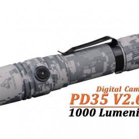 Lanterna Tactica Fenix PD35 V2.0 Digital Camo - 1000 Lumeni - 250 Metri
