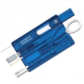 Multifunctional Victorinox SwissCard Classic, albastru transparent - 0.7122.T2