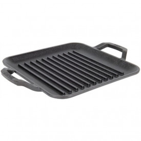 Tava grill patrata cu doua manere Chef Collection Lodge 28 cm - C11SGP