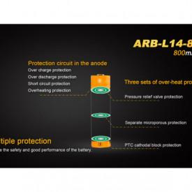 Acumulator Fenix 14500 - 800mAh - ARB-L 14-800 2