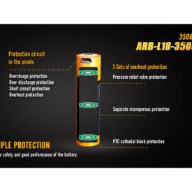 Acumulator 18650 - 3500mAh cu Micro USB - ARB-L 18-3500U 4