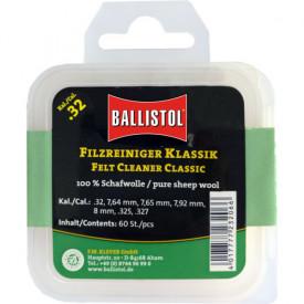 Ballistol Cutie pelete lana pentru curatat teava CAL 8X57/8X64/8X68 60BUC
