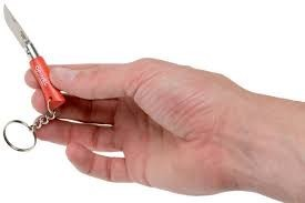 Briceag Opinel Nr.02 Portocaliu Inox Breloc, lama 3.5cm - 002272