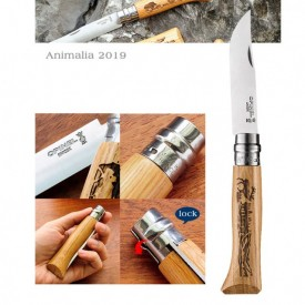 Briceag Opinel Nr.08 Animalia Cerb lama 8.5cm - 002332