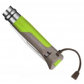 Briceag Opinel Nr.08 Inox Outdoor Verde, lama 8.5cm - 001715