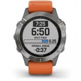 Ceas Garmin Fenix 6 Sapphire Titan/Orange 47mm - HG.010.02158.14 functie antrenament