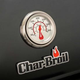 Gratar pe gaz din inox Char-Broil Professional 3500 Black Edition TRU-Infrared - 140899  termometru
