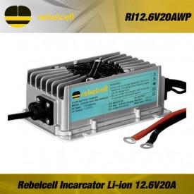 Incarcator baterie Rebelcell 12.6V20A (IP65) Waterproof - RI12.6V20AWP