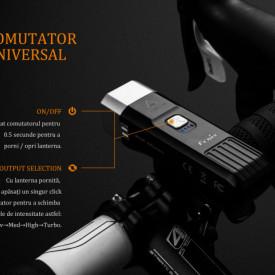 Lanterna bicicleta de ghidon Fenix BC25R Reincarcabila 600 Lumeni 106 Metri 5