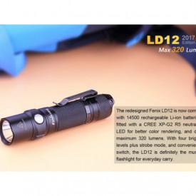 Lanterna Fenix LD12 - Editie 2017 - 320 Lumeni - 135 Metri proportii